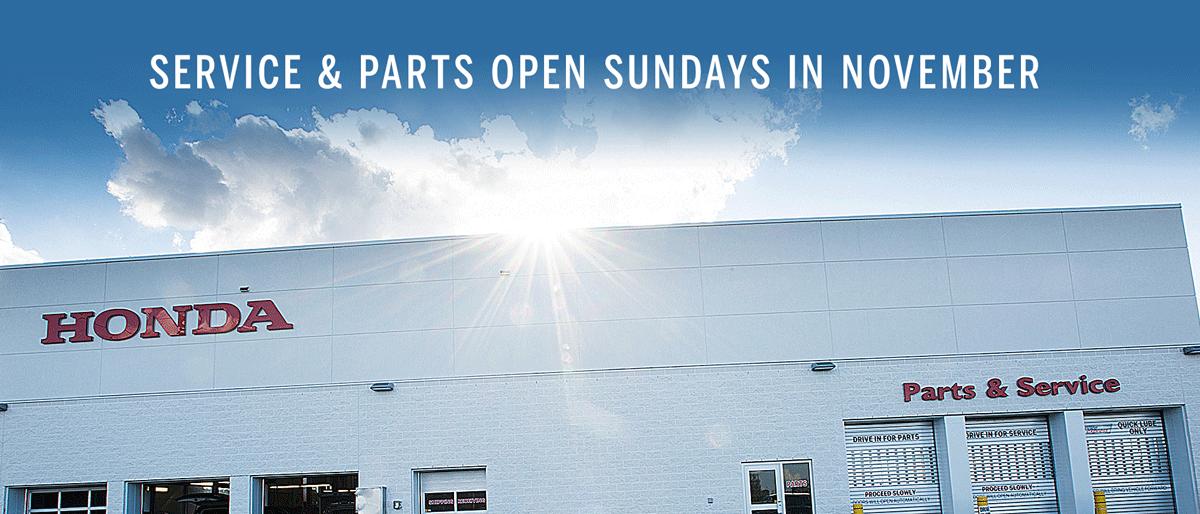 Open Sundays 10-4 in November