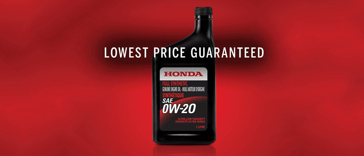 LOWEST PRICE GENUINE HONDA OIL CHANGES