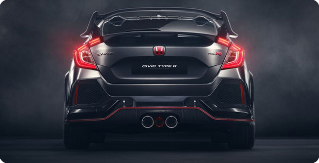 2017 Civic Type R back