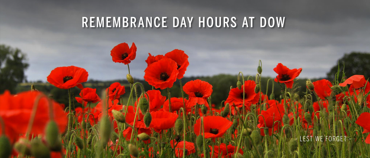 Remembrance Day Hours