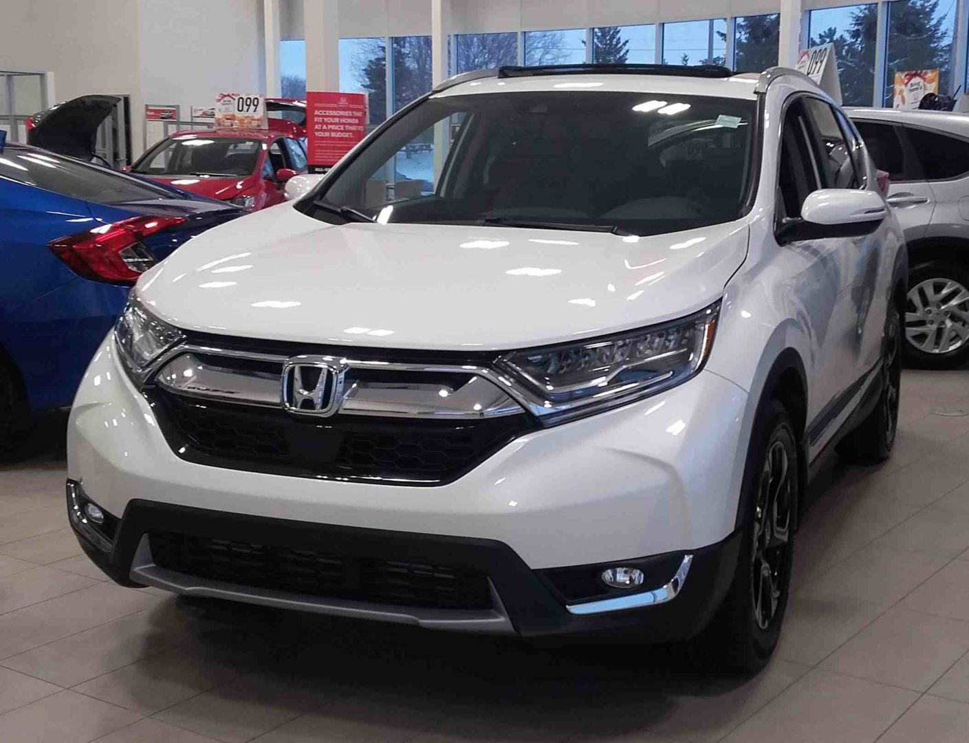 The 2017 Cr V Is Now Available At Dow Honda Visit Us Today To Get A Closer Look This Touring That We Have On Display In White Diamond