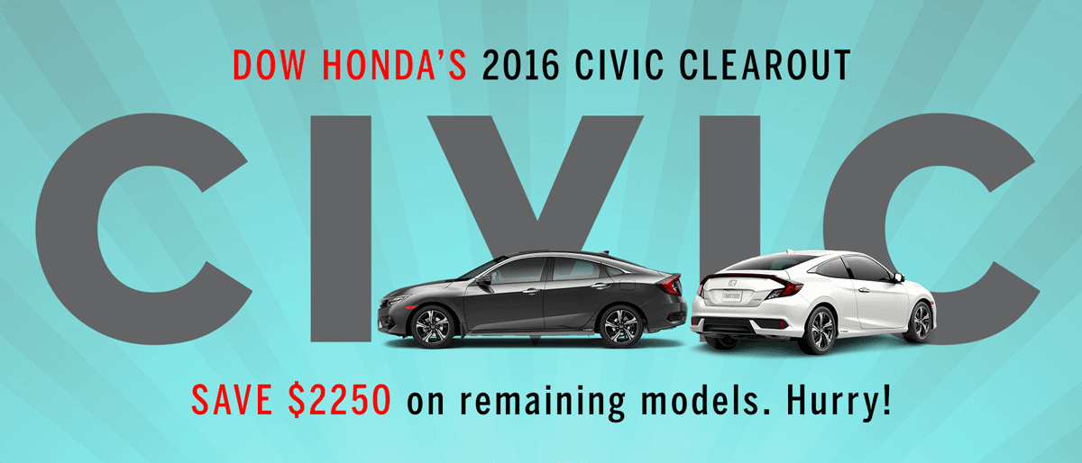 2016 HONDA CIVIC CLEAROUT