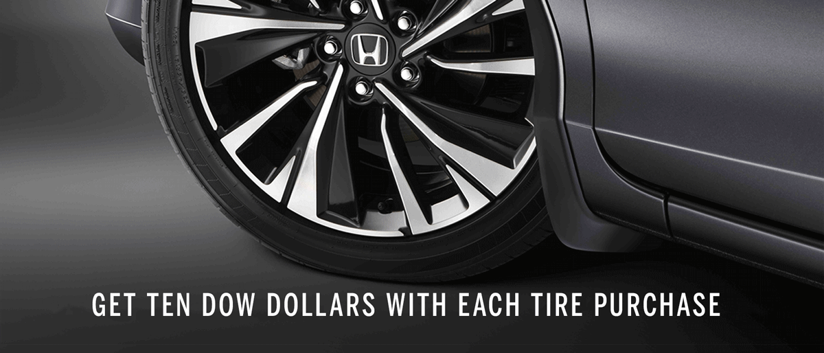 GET DOW DOLLARS WITH TIRE PURCHASE