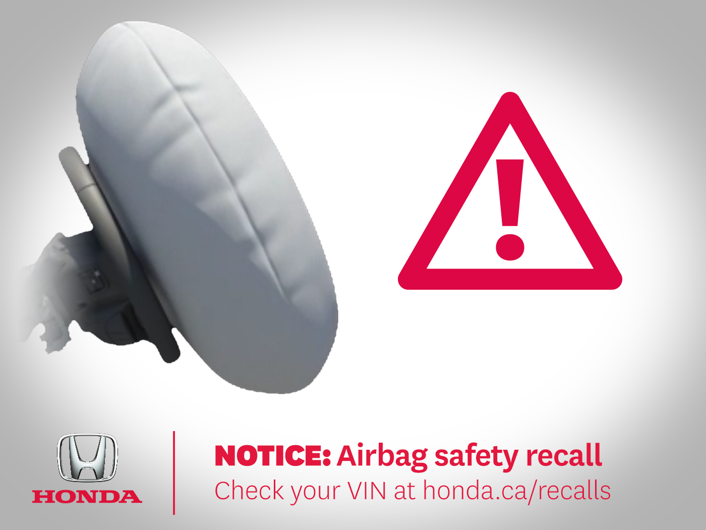 Airbag Inflator Recall