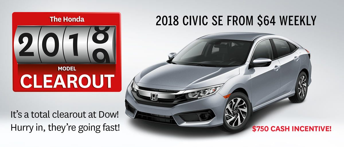Save on Civic SE at Dow