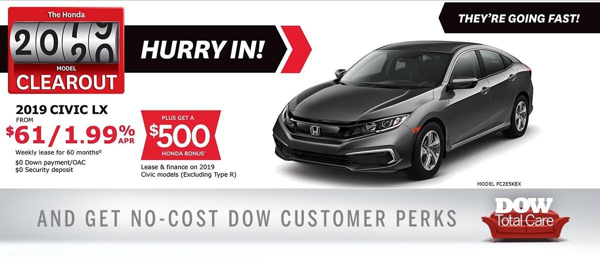 Save on Civic at Dow Honda