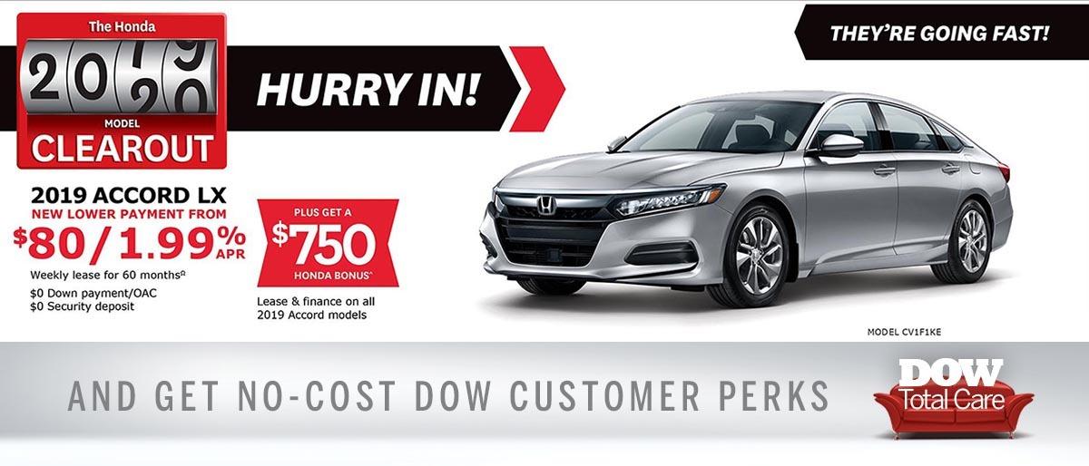 Save on Accord at Dow Honda