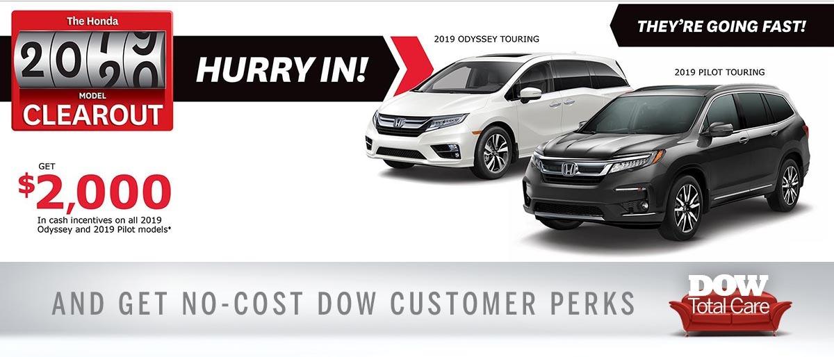 Cash Incentives at Dow Honda