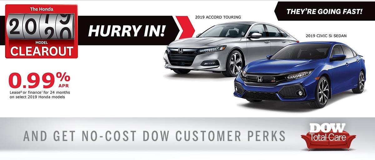 Great Rates at Dow Honda