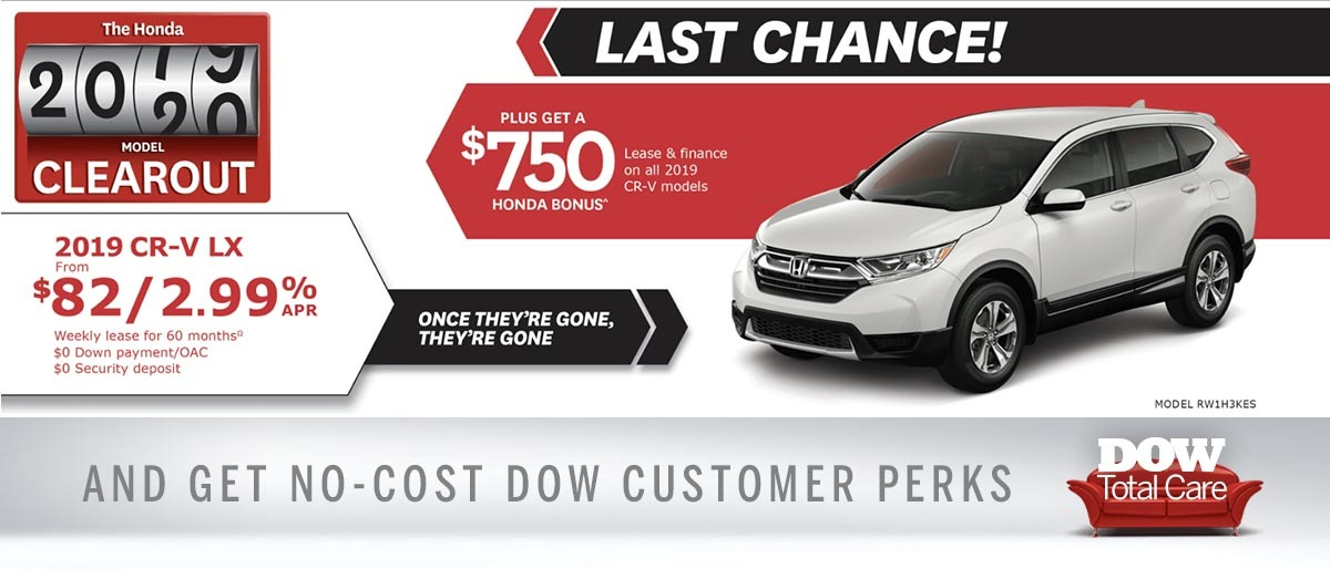 Save on CR-V at Dow Honda
