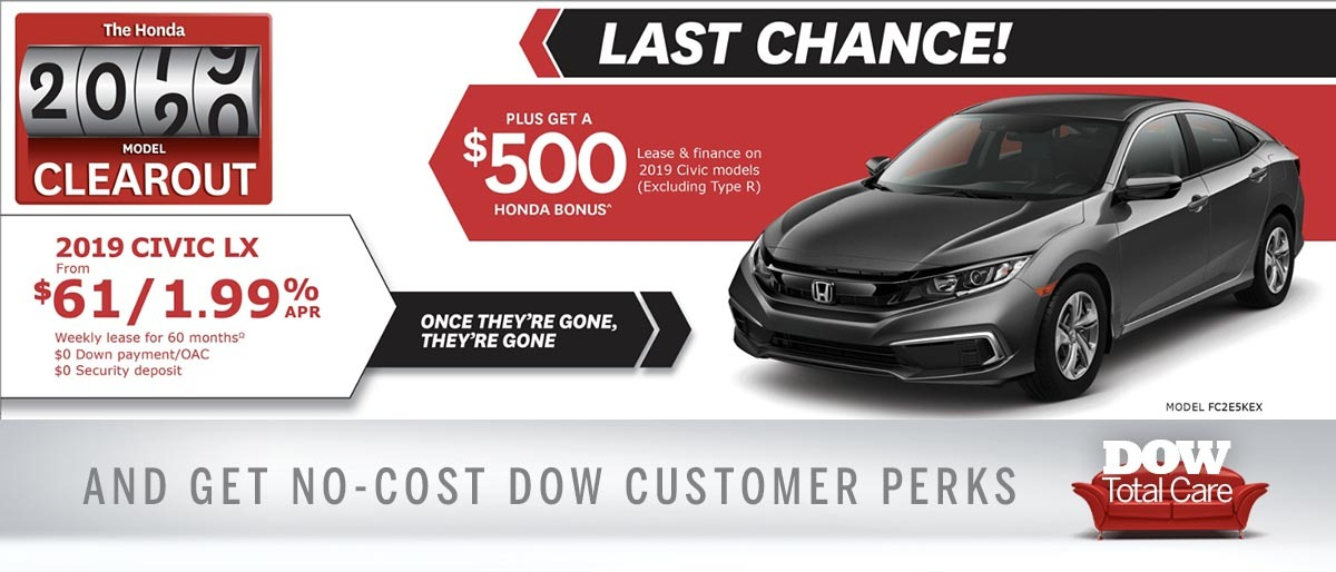 Save on Civic at Dow Honda