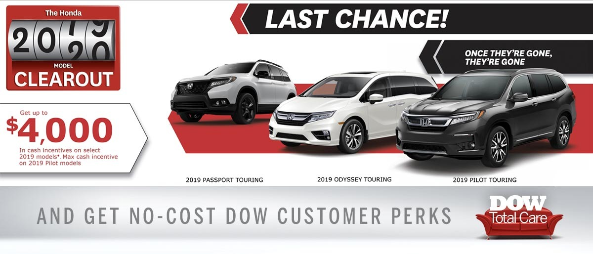 Save on Pilot, Odyssey and Passport at Dow Honda