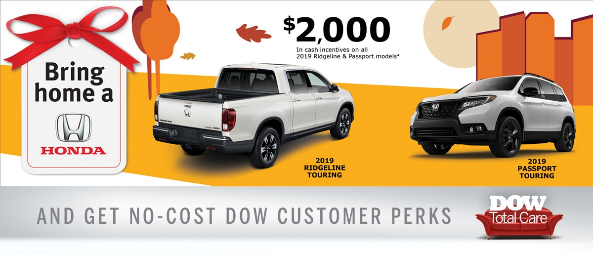Great cash incentives at Dow Honda
