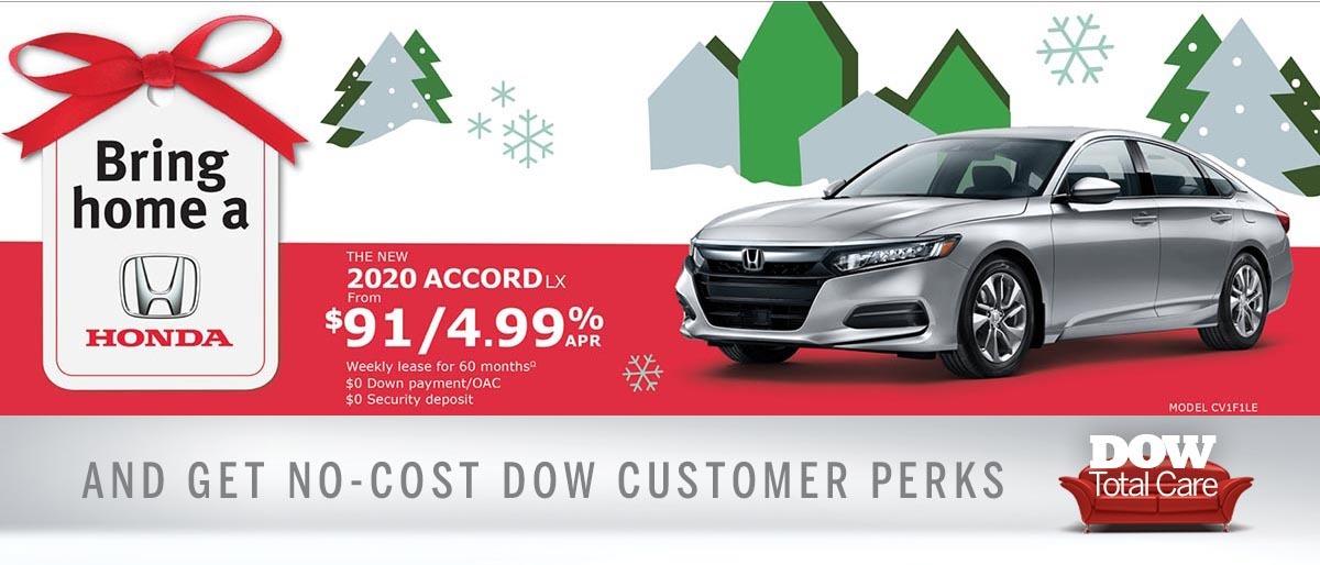 Save on 2020 Honda Accord at Dow Honda