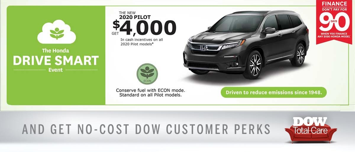 $4000 Cash Incentive on 2020 Pilot at Dow Honda