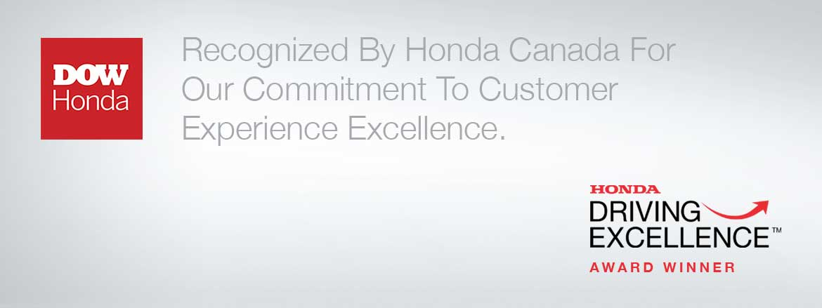 Dow Honda Award Winning Customer Service
