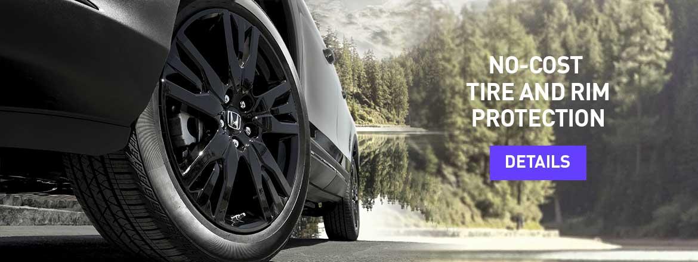 No-Cost Tire and Rim Protection at Dow Honda