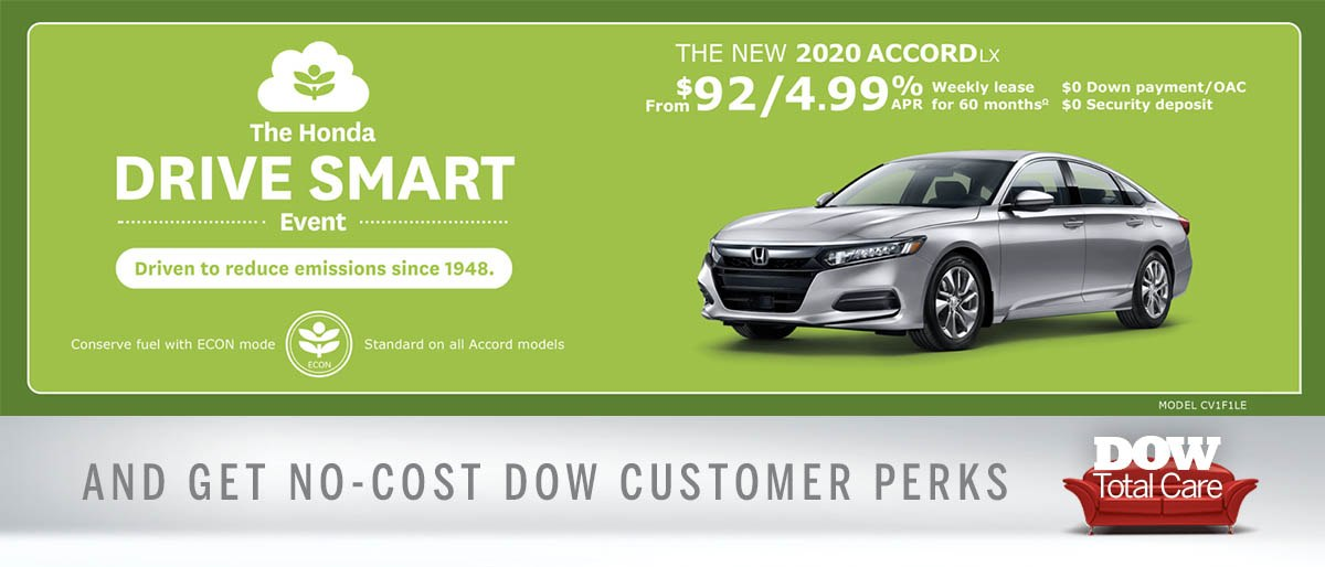 Save on 2020 Accord at Dow Honda