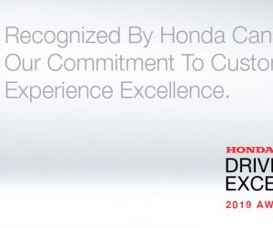 Dow Honda Customer Experience Award Winner
