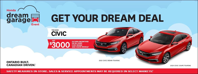 2020 Honda Civic at Dow Honda