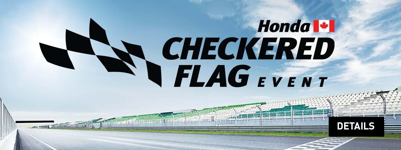 Checkered Flag Event at Dow Honda
