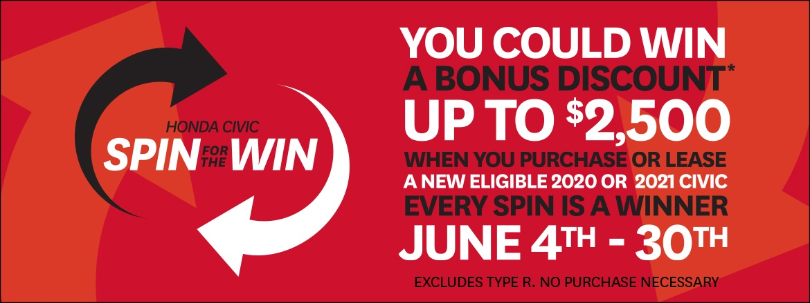 Spin For The Civic Win at Dow Honda