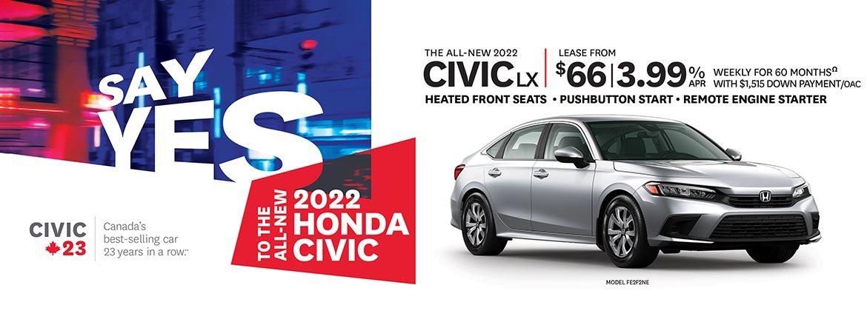 Save on the 2022 Civic at Dow Honda